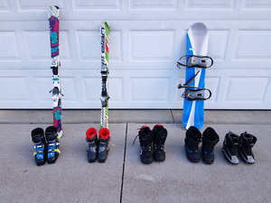Twin tip skis, skis and snowboard for sale