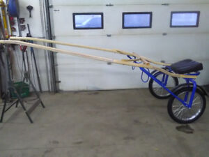 Rebuilt jogger with quick hitch shafts
