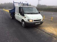 Ford transit crew cab tipper 2005 05 2000