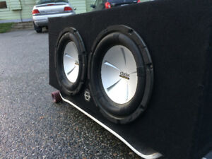"""35"""" Subs with Amp and Fuse"""