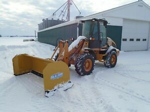 Case 321E Series 3 HTS Wheel Loader With NEW HLA 9' SNOWPUSHER