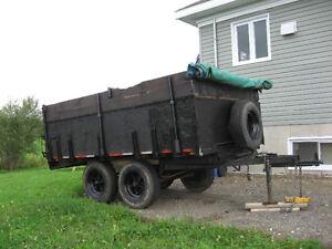 traiter du pré 6'x10' remorque double essieux