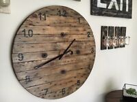 Huge Cable Drum Clock