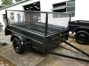 BRAND NEW 8X5 HEAVY DUTY HIGH SIDE BOX TRAILER + CAGE Carlton Kogarah Area Preview