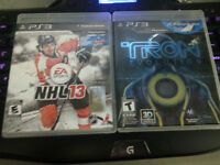 Tron and NHL13 for sale!
