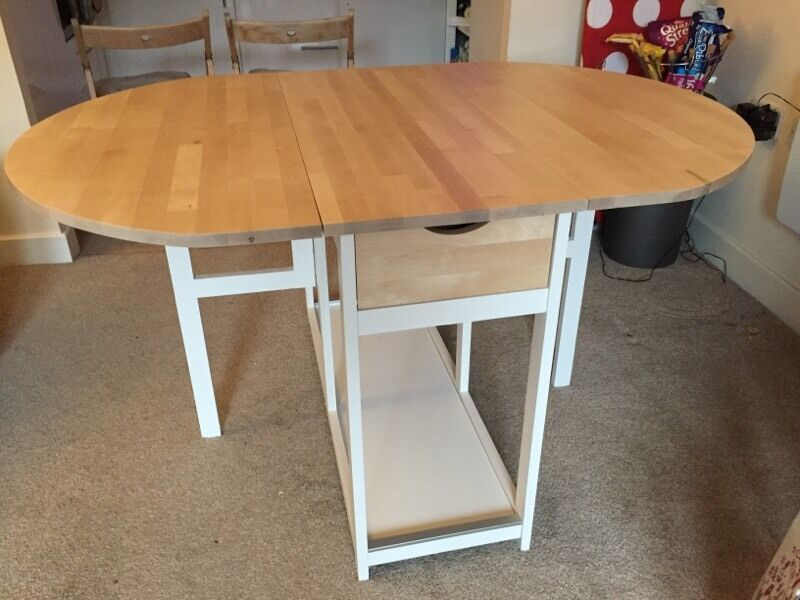 IKEA Folding Leaf Dining Table For Sale