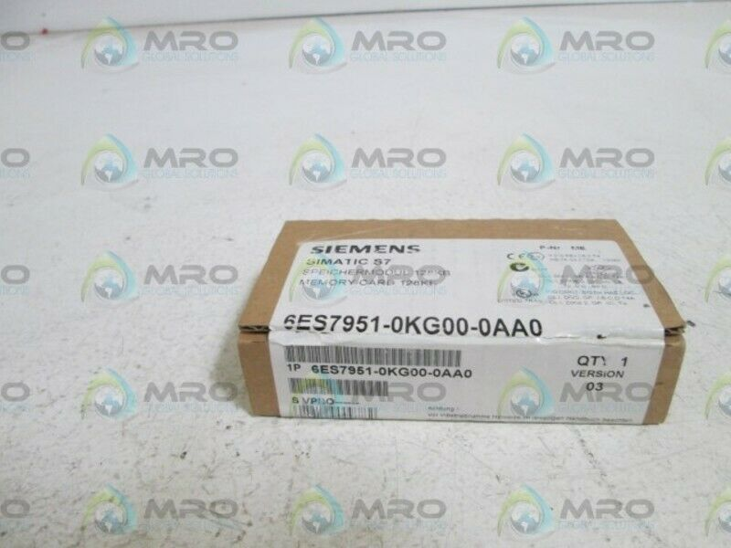 SIEMENS MEMORY CARD 6ES7951-0KG00-0AA0 *FACTORY SEALED*