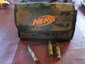 Nerf N Strike Ammo Bag Kit - Green with camouflage