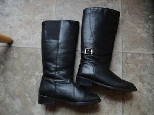 2 pairs Women's Leather Boots - Size 7M & 7D
