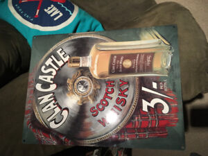 Clan Castle Scotch Whisky Tin Sign