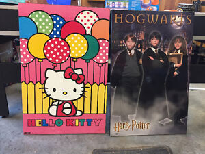 2 Cadres hello kitty et harry potter