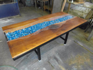 Live Edge River Dinning Table