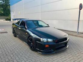 1998 R Nissan Skyline R34 2.5 GTT Turbo Manual + Bodykit + Wing