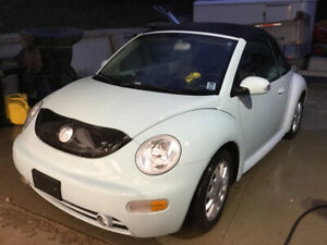 Sold PPU 2005 VW Beetle convertible