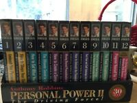 Un open Anthony Robbins VHS tapes, VCR included