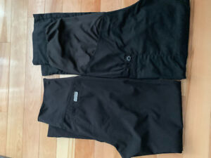 Black maternity scrub pants