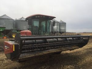 Premier (MacDon) 2940 Windrower c/w 25' harvest and 14' hay head Strathcona County Edmonton Area image 2