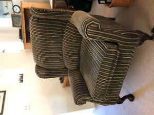 Pull put couch with matching chair and ottoman