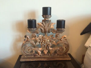 Ornamental candle holder from Bombay Company