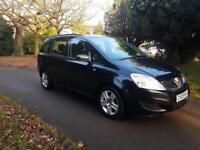 2009 Vauxhall Zafira 1.6 16v Exclusiv 7 Seats Low Miles black £2795