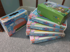 Peppa Pig and Ben and Holly puzzles