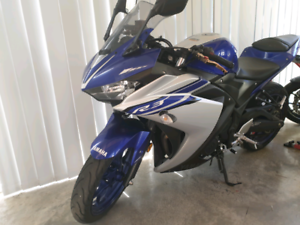 2016 Yamaha R3 motorbike purchased in March 2017
