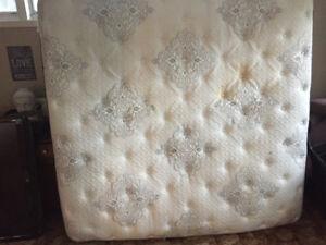 King size mattress and split box spring