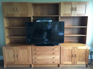 For Sale: Solid Teak Wall Unit