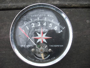 Vintage Airguide Tach and Transmitter Box for 4-6-8 cyl. Engines