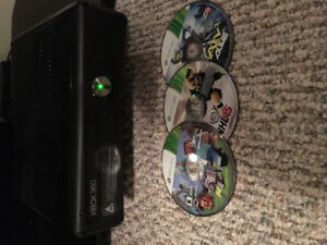 Xbox 360 with Kinect and games included