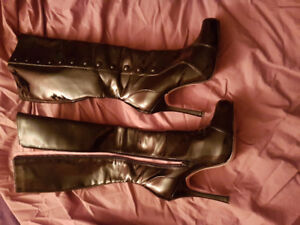 Leg Avenue Patent Leather Knee High Boots