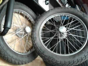 Pair Spindle Mount Front Wheels T Bucket Dragster