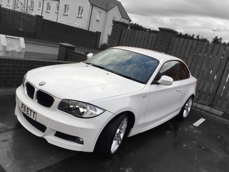 bmw 1 series m sport coupe (alpine white)   in alford