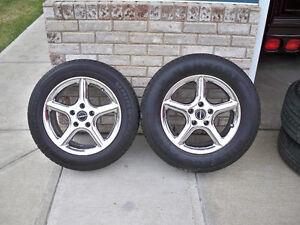 """Set of 4 16"""" Bright Alloy Borbet Rims & Tires"""