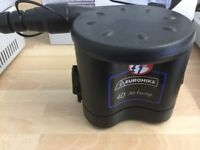 Battery operated portable air pump,