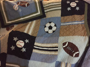 Kids sport theme bedding - Quilt Set - Single