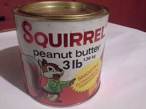 Collectable Squirrel Peanut Butter Tin