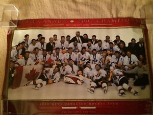 4 DIFFERENT POSTERS OF 2002 TEAM CANADA OLYMPIC HOCKEY