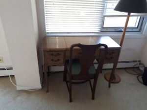 console table with chair