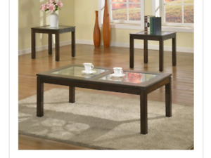 BRAND NEW IN BOX! Brassex Coffee and End Tables