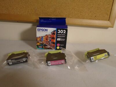 Epson 302 Genuine Photo & Color Ink Cartridges 3 Pack - (NO CYAN) - Exp 03/2022 3 Ink Photo Black Cartridge