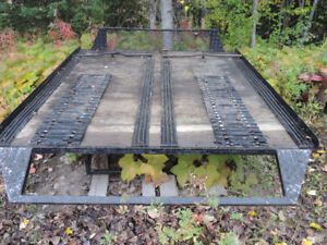 Long box sled deck, skimmer and two sled trailer