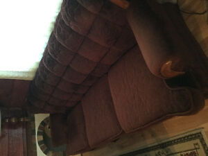 Large sofa and recliner