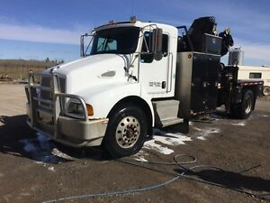 2007 T300 KENWORTH 122 HIAB PICKER 5th wheel