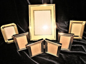 SET OF 7 QUALITY PHOTO FRAMES - FOR PICTURES, PHOTOS, ART WORK