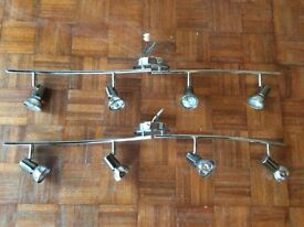 2 x matching chrome 4 bar spot lights