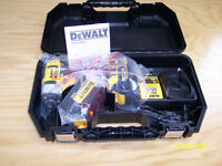 Brand New Dewalt 20 Volt Impact Driver, 2 Batteries Charger Case