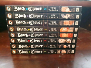 Black Clover Volumes 1-8