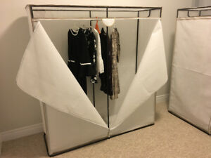 "Brand new 60"" W portable wardrobe, dimensions: 60""W x 18""D x 64"""