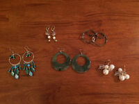 Beautiful stylish earrings! Whole lot of 5 for $10!